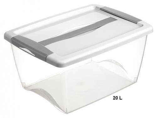 Boite de rangement plastique avec poign e 220x438x328 mm - Rangement chaussettes tiroir ...