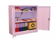 armoire basse m tallique porte battante 1000x990x400mm monobloc. Black Bedroom Furniture Sets. Home Design Ideas