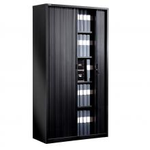 armoire bureau porte coulissante noir. Black Bedroom Furniture Sets. Home Design Ideas