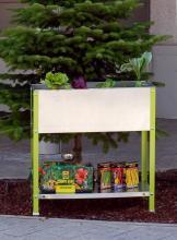 bac en hauteur de plantation en m tal pour fleurs l gumes. Black Bedroom Furniture Sets. Home Design Ideas