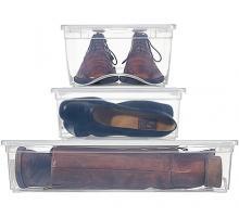 boite plastique transparente avec couvercle pour chaussures. Black Bedroom Furniture Sets. Home Design Ideas