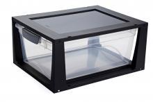 boite a tiroir en plastique empilable pour rangement bureau. Black Bedroom Furniture Sets. Home Design Ideas