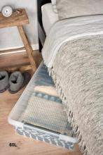 boite plastique plate pour rangement sous lit. Black Bedroom Furniture Sets. Home Design Ideas