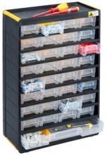 Bloc casier tiroir plastique pour rangement visserie - Casier rangement visserie ...