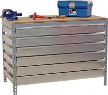 servante tabli m tal 6 tiroirs pour rangement outillage atelier. Black Bedroom Furniture Sets. Home Design Ideas