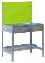 Table de rempotage pour serre en m tal galva avec panneau outils for Petite table de jardin metallique