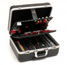 Valise outils compl te roulette 128 outils - Caisse a outils electricien complete ...