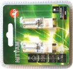 blister 2 ampoules capsules led g9 3 watts 200 lumens 3k