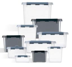 Boite Plastique Transparente Opaque Avec Couvercle Pour Rangement