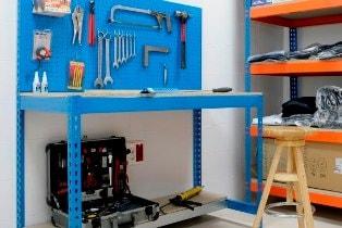 etabli tag re armoire de rangement atelier. Black Bedroom Furniture Sets. Home Design Ideas