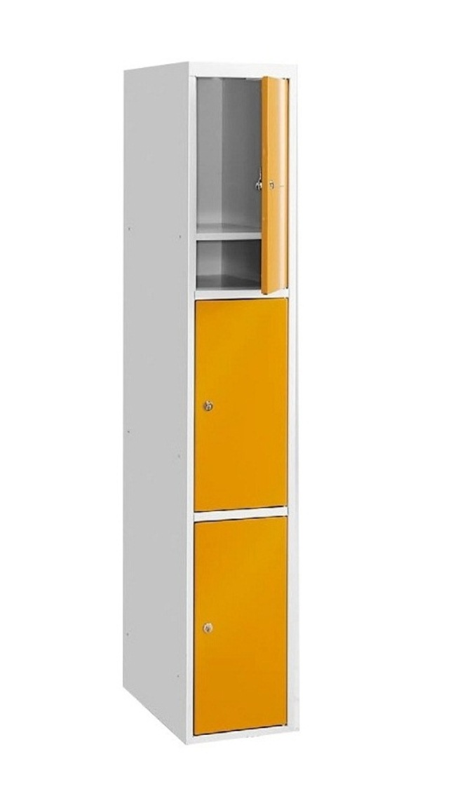 vestiaire m tallique 3 cases. Black Bedroom Furniture Sets. Home Design Ideas